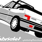 Peugeot 205 Cabriolet white by car2oonz