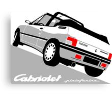 Peugeot 205 Cabriolet white Canvas Print