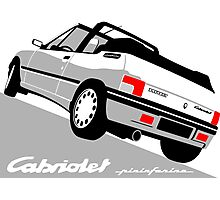 Peugeot 205 Cabriolet white Photographic Print