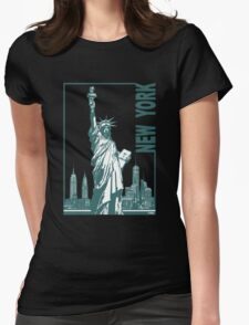 New York-Statue of Liberty  Womens Fitted T-Shirt