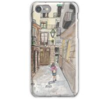 An urban sketch in Barcelona's El Born neighborhood iPhone Case/Skin