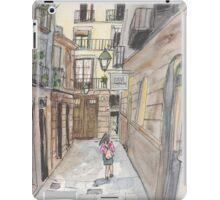 An urban sketch in Barcelona's El Born neighborhood iPad Case/Skin