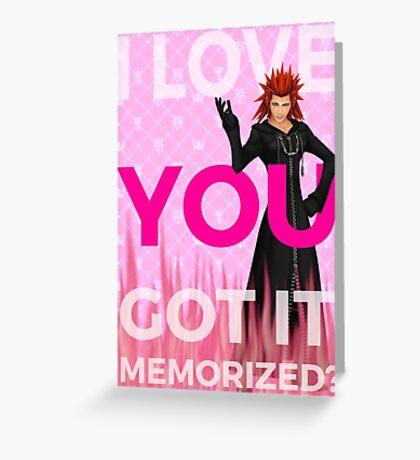 Kingdom Hearts - Axel I Love You Greeting Card