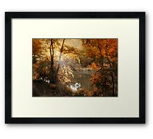 Autumn Afterglow Framed Print
