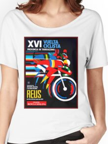 VUELTA CICLISTA; VintageBicycle Racing Advertising Print Women's Relaxed Fit T-Shirt