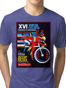VUELTA CICLISTA; VintageBicycle Racing Advertising Print Tri-blend T-Shirt
