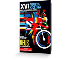 VUELTA CICLISTA; VintageBicycle Racing Advertising Print Greeting Card