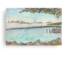 View of Foggy San Francisco  Canvas Print