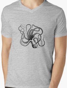 Vintage Octopus Mens V-Neck T-Shirt