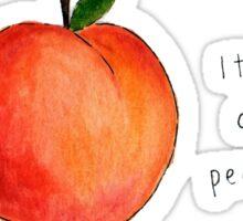 It's all peachy Sticker