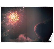 Explosion in the sky - From Fiestas del Apóstol in Santiago de Compostela Poster