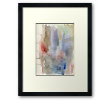 watercolor experiment Framed Print