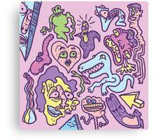 Bubblegum Graffiti Canvas Print