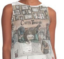 An urban sketch at Cafe Trieste Contrast Tank