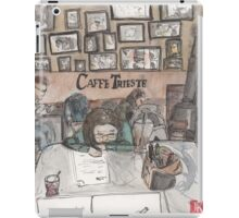 An urban sketch at Cafe Trieste iPad Case/Skin