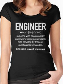 Engineer Definition Funny T-shirt Women's Fitted Scoop T-Shirt