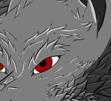 Snarly Wolf Sticker