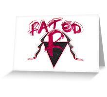 "Edge ""Rated R"" WWE Greeting Card"