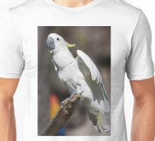 parrot on its perch Unisex T-Shirt