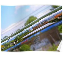 Graffiti on Pipe Poster