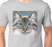 Blue Eyed Maine Coon, painting Unisex T-Shirt