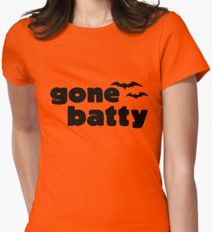 Gone batty Womens Fitted T-Shirt