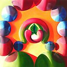 Sex and Candy - vibrant abstract oil painting by James  Knowles