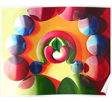 Sex and Candy - vibrant abstract oil painting Poster