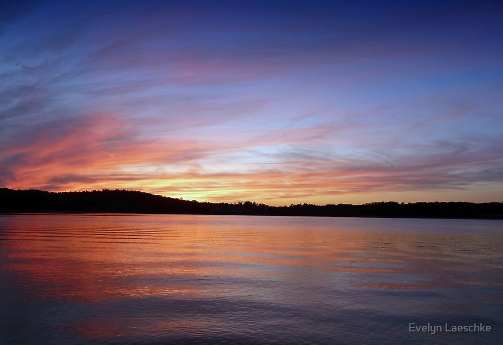 Sunset, Lake Sidney Lanier by Evelyn Laeschke