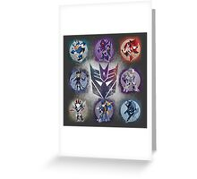 Decepticons Prime- Collection Greeting Card