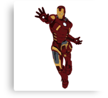 Iron Man - block colours Canvas Print