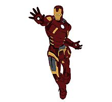 Iron Man - block colours Photographic Print