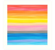 Crayon Love: Good Feeling Art Print