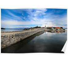 Bridge to Nin, Croatia Poster