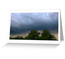 Dark evening clouds Greeting Card