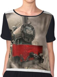 Steam Engine Chiffon Top