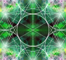 Metatron's Cube green Sticker