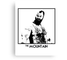The Mountain Inspired Artwork 'Game of Thrones' Canvas Print