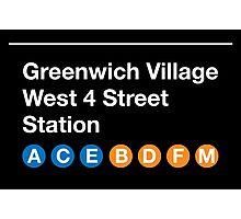 Greenwich Village Station Photographic Print