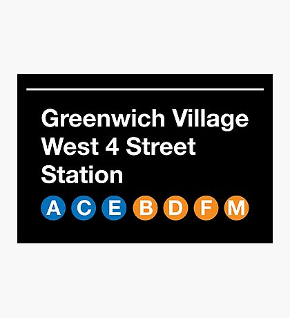 Greenwich Village Station Photographic Print