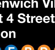 Greenwich Village Station Sticker