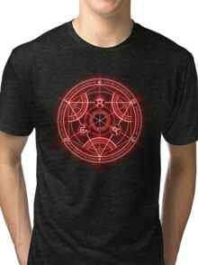 Human Transmutation Circle - Red Tri-blend T-Shirt