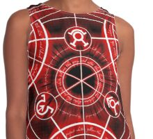 Human Transmutation Circle - Red Contrast Tank