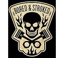 Bored & Stroked Vintage Motorcycle Photographic Print