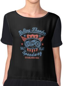 Rolling Thunder Vintage Motorcycle Chiffon Top