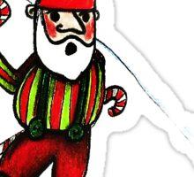 Skiing Gnome Sticker