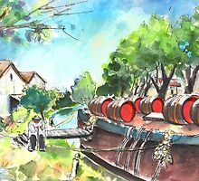 Old Wine Barge By Narbonne by Goodaboom