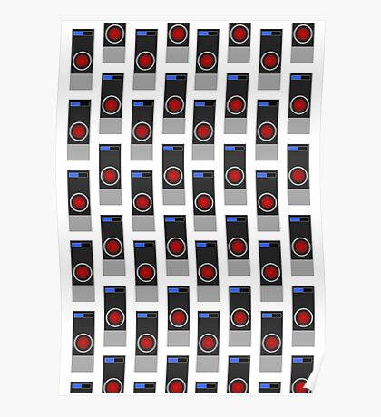 HAL-9000 Repeating Pattern Poster