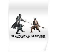 The Mountain and the Viper Inspired Artwork 'Game of Thrones' Poster