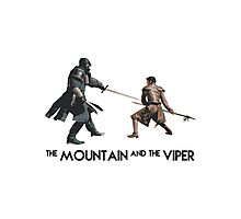 The Mountain and the Viper Inspired Artwork 'Game of Thrones' Photographic Print